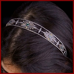 Brithday Tiara 9.15 Ct Natural Certified Diamond Emeraldandtopaz Sterling Silver Hair Accessories