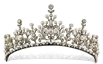 Queen Crown 9.25 Ct Natural Certified Diamond Pearl Sterling Silver Brithday Tiara