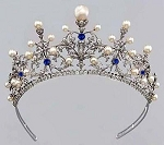 Wedding Tiaras 9.5 Ct Natural Certified Diamond Pearl Sterling Silver Queen Crown