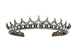 Tiara And Crown 14.8 Ct Natural Certified Diamond Pearl Sterling Silver Diamond Crown