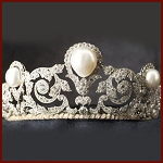 Certified Diamond Tiara 6.3 Ct Natural Certified Diamond Pearl Sterling Silver Hair Accessories