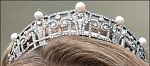 Head Pieces 10.5 Ct Natural Certified Diamond Pearl Sterling Silver Bridal Hair Accessories