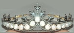 Brithday Tiara 7.88 Ct Natural Certified Diamond Pearl Sterling Silver Bridal Headpieces