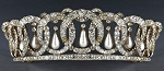 Wedding Tiaras 10.7 Ct Natural Certified Diamond Pearl Sterling Silver Victorian Inspried