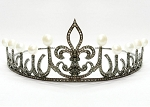 Bridal Headpieces 11.22 Ct Natural Certified Diamond Sterling Silver Art Deco