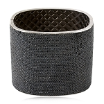 925 Sterling Silver 26.46ct Black Diamond Pave Wide Bangle Bracelet For Women's