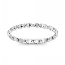 Single Line Bangles 0.54 Ct Natural Diamond Solid Gold Occasion