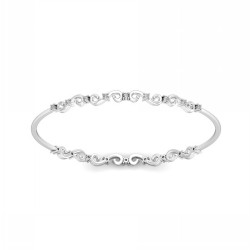 Diamond Eternity Bangle 0.45 Ct Solid Gold Wedding