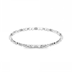 Single Line Diamond Bangles Designs 0.7 Ct Solid Gold Weekend