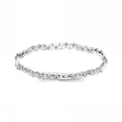Diamond Single Line Bangles 0.592 Ct Solid Gold Vacation