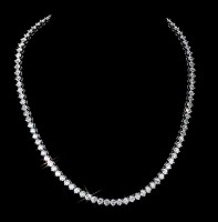 Tennis Necklaces 8.00 ct Natural Diamond Solid Gold Single Line Certified