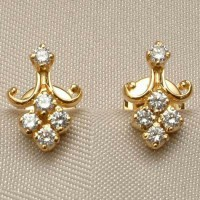 Gold Diamond Earrings 0.20 ct 18k Natural Certified Solid gold Hot Deal