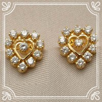 Gold Diamond Earrings 0.40 ct 18k Natural Certified Solid gold Hot Deal