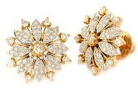 Designer Earrings 1.00 ct Diamond 18k Natural Certified Solid gold Hot Deal