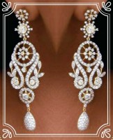 Diamond Chandelier Earrings 6.00 ct 18k Natural Certified Solid gold Hot Deal