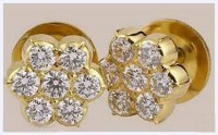 Diamond Studs  0.30 ct 18k Natural Certified Solid gold Hot Deal