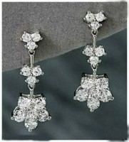 White Gold Earrings 0.50 ct Diamond  Hot Deal Wedding Annversary