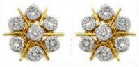 Diamond Earrings 1.00 ct 18k Natural Certified Solid gold Hot Deal