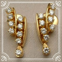 Diamond Earrings 0.40 ct 18k Natural Certified Solid gold Hot Deal