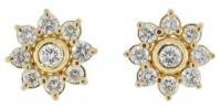 Gold Earrings 1.00 ct Diamond For Wedding & Anniversary Hot Deal
