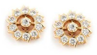 Gold Diamond Earrings 1.00 ct 18k Natural Certified Solid gold Hot Deal