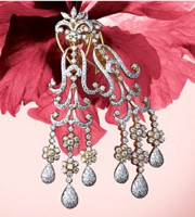 Diamond Chandelier Earrings 5.00 ct 18k Natural Certified Solid gold Hot Deal