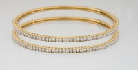 Eternity Bangle Natural Diamond 5.00 ct 18k solid gold Natural Certified