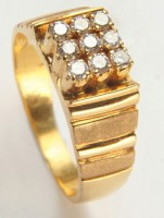 Natural Certified Diamond 0.50 ct 18k solid gold men's ring