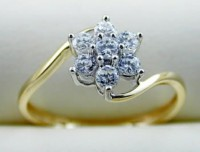 Gold Diamond Rings 0.30 Ct Natural Diamond 18k solid gold wedding ring Hot Deal Certified