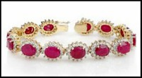 Diamond Tennis Bracelets 4.00 ct 18k solid gold ruby Hot Deal Natural Certified