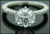 Diamond Accent Ring 1.00 Ct Natural Diamond 18k solid gold solitaire ring Hot Deal  Certified