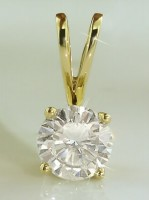 Diamond Pendant Charms 0.10 ct 18k solid Yellow gold Natural Certified