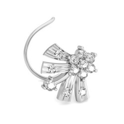 Diamond Nose Pin 0.12 Ct Natural Diamond Solid Gold Anniversary