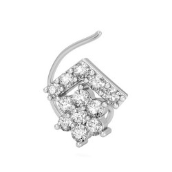 Solitaire Diamond Nose Pin 0.167 Ct Natural Diamond Solid Gold Special Occasion