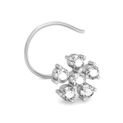 Diamond Nose Pin 0.115 Ct Natural Diamond Solid Gold Wedding