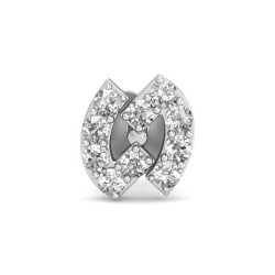 Solitaire Nose Ring 0.125 Ct Natural Diamond Solid Gold Wedding