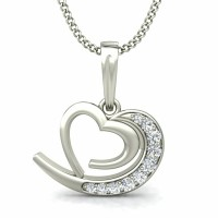 Fine Diamond Heart Pendant 0.11 ct Gift for Her Solid Gold Natural Certified