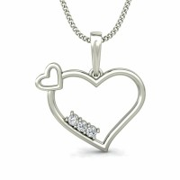 Heart Pendants  0.08 ct Diamond Valentine Necklace Solid Gold Natural Certified