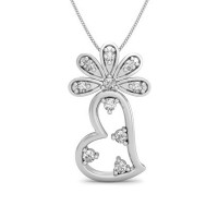 Diamond Valentine Pendant 0.08 ct Solid Gold Perfect Gift Natural Certified