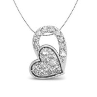 Heart Pendants 0.12 ct Diamond Valentine Gift Solid Gold Natural Certified