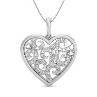 Valentines Day Jewellery 0.32 ct Diamond Pendant Solid Gold Natural Certified