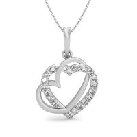 Valentine Day Gift 0.12 ct Diamond Necklace Solid Gold Natural Certified