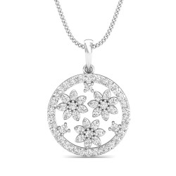 Diamond Pendant 0.366 Ct Natural Diamond Solid Gold Occasion