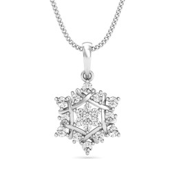 Diamond Pendant 0.22 Ct Natural Diamond Solid Gold Office Wear