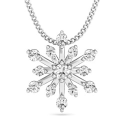 Diamond Pendant Necklace 0.18 Ct Natural Diamond Solid Gold Special Occasion