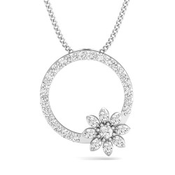 Gold Diamond Pendant 0.227 Ct Natural Diamond Solid Gold Engagement