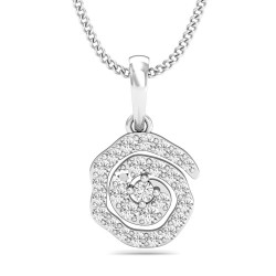 Diamond Pendant 0.2045 Ct Natural Diamond Solid Gold Wedding