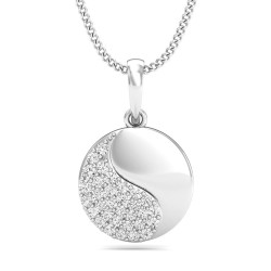 Diamond Pendant 0.1535 Ct Natural Diamond Solid Gold Anniversary