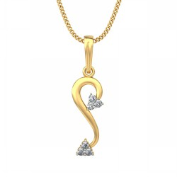 White Gold Pendant 0.09 Ct Natural Diamond Solid Gold Vacation