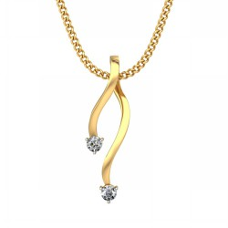 Diamond Pendant 0.05 Ct Natural Diamond Solid Gold Special Occasion